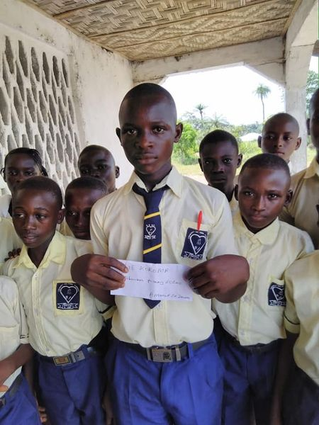 distribution of scholorships for vulnerable children.
